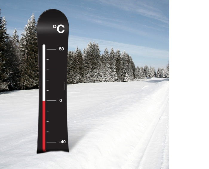 'It's Cold Out There' snowboard