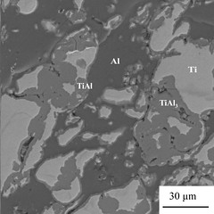 Cold Gas Dynamic Spray (CGDS): formation of Ti-Al intermetallics