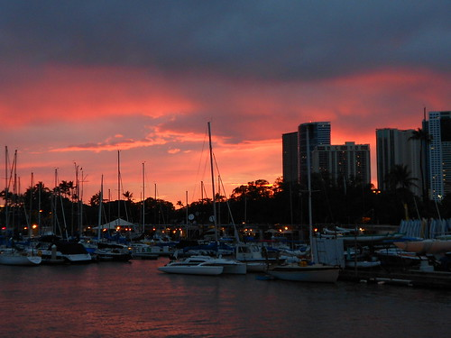 Sunset from the Ala Wai Canal