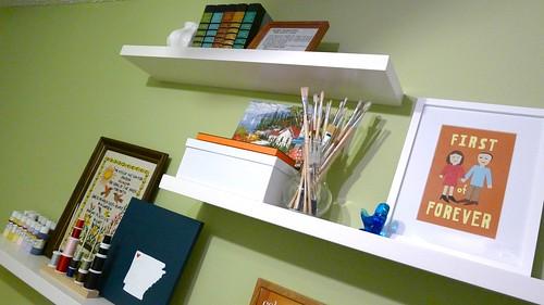 Second Shelf in Craft Room