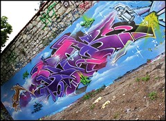 Brok (SKE) Tags: urban terrain streetart art colors wall painting graffiti paint artist couleurs tag letters style spot spray painter characters graff perso mur bombing lettres graffeur photographe graphotism personnages friche