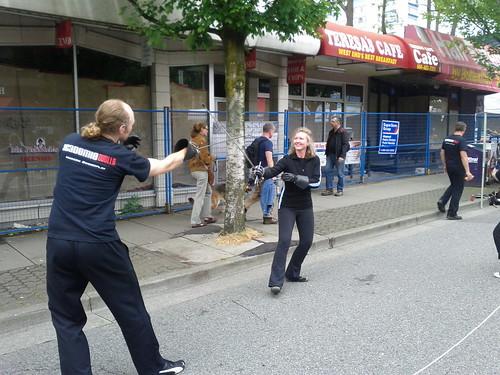 Fencing demonstration