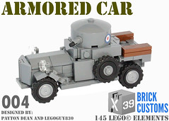 Rolls Royce Armored Car (X39BrickCustoms .com) Tags: lego custom military kit rolls royce armored car ww1 world war 1 legoguy830 x39brickcustoms clonetrooperx39 printed stickers brick customs brickarms