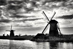 Kinderdijk (wimkappers) Tags: blackwhitephotos blackandwhite bw kinderdijk dutch windmill dutchlandscape landscape skancheli