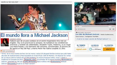 Michael Jackson en La Vanguardia