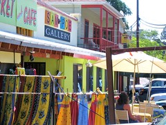 Colorful Gallery in Bisbee, Arizona (sunsinger) Tags: street morning arizona buildings cafe colorful gallery shops bisbee stores