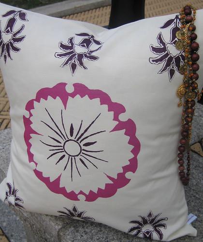 Hammocks & High Tea modern suzani pillow