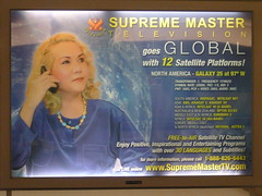 Supreme Master Television advertisement in SFO...