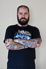 1.100 (johnwilliamsphd) Tags: portrait copyright newyork black tattoo john beard williams arms c upstate binghamton southerntier  armtattoos williams john broomecounty 100strangers johncwilliams fatbaldmen johnwilliamsphd phd