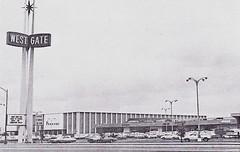 Westgate Shopping Center San Jose 1960s (hmdavid) Tags: california architecture modern mall shopping sanjose 1960s roadside southbay midcentury westgateshoppingcenter johnsavagebolles