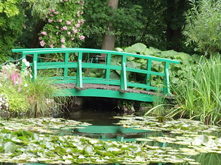Monet's Garden - Water Lillies, Pond and Bridge