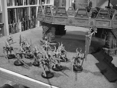 Two groups of 12 bloodletters with icons (jon_a_ross) Tags: 40k warhammer gw daemon warhammer40k gamesworkshop imperialguard wargaming daemons chaosdaemons daemonsofchaos daemonsoftzeentch daemonsofkhorne planetstrike 2500pts 2500points