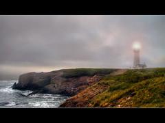 Yaquina Head Lighthouse - HDR (David Gn Photography) Tags: sea fog oregon lighthouses pacificocean newport oregoncoast beacon hdr yaquinaheadlighthouse photomatix interestingness361 oregonstallestlighthouse canonpowershotsx1is explore27jul09