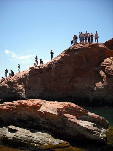 Cliff Jumping at Sand Hollow