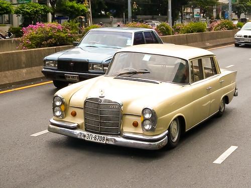 Old Mercedes-Benz on Sathorn