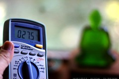 82 degrees Fahrenheit in the guest room / downstairs office  @ 6pm with the AC on - _MG_0274