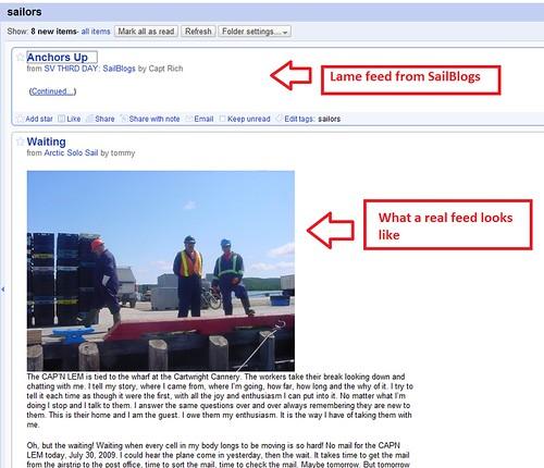 SailBlogs Comparison