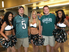 "EaglesFanCast Eric and Chuck and Cheerleaders at Eagles Flight Night • <a style=""font-size:0.8em;"" href=""http://www.flickr.com/photos/23560286@N02/3798315546/"" target=""_blank"">View on Flickr</a>"