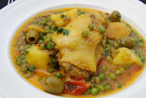 kip met saffraan en ras el hanout