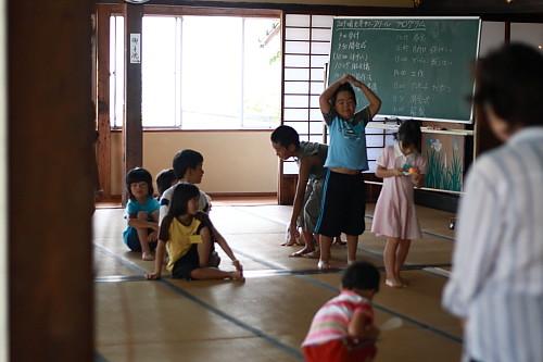 2009順光寺サマースクール しゃもじリレー