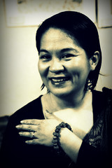 The Teacher in Filipiniana (photographybyrenchi) Tags: blackwhite philippines teacher math wife picnik filipiniana linggongwika thelearningtree renchiarce