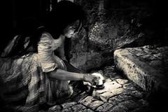 Hope ((spazioalice) laikit) Tags: canon pietre candela luce biancoenero abruzzo ragazza chieti seppia gradini pretoro theperfectphotographer