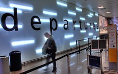 365-075 Departures, Glasgow International Airport (Hotpix [LRPS] Hanx for 1.5M Views) Tags: abstract sign wall person la scotland clyde airport gate glasgow lounge escocia traveller international viajes departure departures aeropuerto hdr highdynamicrange edinbrugh schottland schotland ecosse scozia hotpix 365days   lecosse