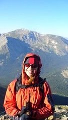 Clare Approaching Summit of Columbia (14,073 ft)