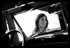 MARIAGE / WEDDING : Through the Windshield (Sebastien LABAN) Tags: wedding portrait white love face composition hair eyes cotedazur dress ceremony mariage shoulder glance 83 var sud straphael saintraphael haircutlook freijus
