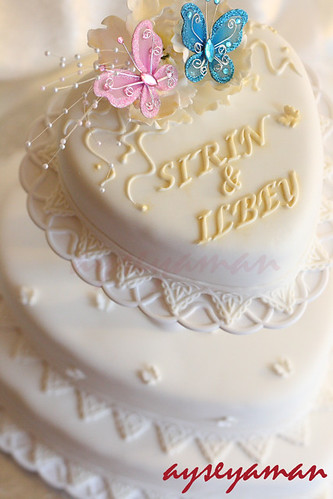 Butterfly Engagement Cake