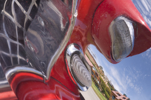 Red Car Reflections