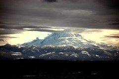 Mt Rainer from I-5 (WHATSMYSTYLE) Tags: snow nature clouds washington nikon northwest evergreen mtrainer moutian