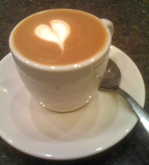 perfect macchiato from Ninth Street Espresso