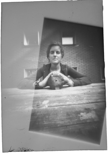 framed by noise - pinhole portrait