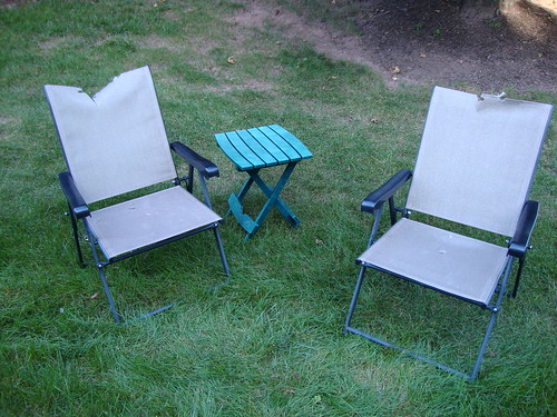 Damaged chairs