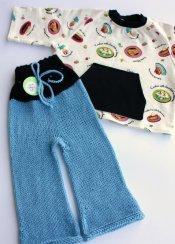 Sugar Coated set - longies & cotton fleece shirt - medium **BLACK FRIDAY SALE**