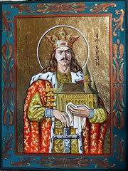 Saint Stephen the Great, Voyevode of Moldavia (londonconstant) Tags: contemporary icon monastery romania founde putna londonconstant moldaviasaintstephenthegreat stefancelmaresisfant