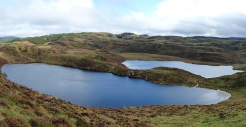 Feinn Lochs big & wee. Kilmelford Hill Lochs, Copyright Brian Turner