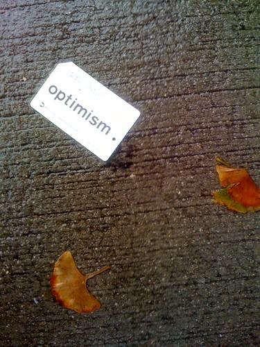 Found object: optimism