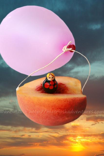 foto divertente e crreativa con una pesca volante
