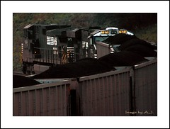 Moving Coal (Images by A.J.) Tags: railroad autumn fall train energy mine branch pennsylvania norfolk rail railway trains southern pa transportation bailey coal manor ge bahn treno freight chemin trein ferrocarril ferro  consol    gevo