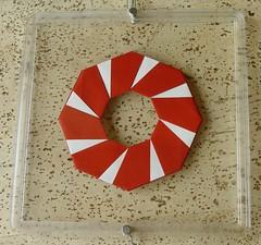 Ring 26 von Tomoko Fuse - Rückseite (Tagfalter) Tags: origami ring tomokofuse