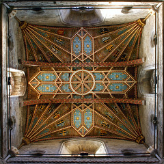 Uplift (archidave) Tags: tower church architecture square crossing cross cathedral geometry ceiling crop ribs format vault pembrokeshire stdavids