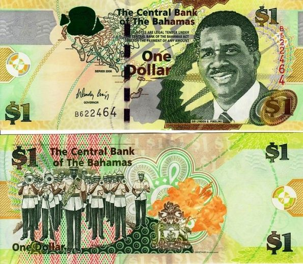 1 dolár Bahamy 2008