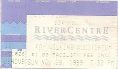 11/28/99 Queensryche/DoubleDrive @ St. Paul, MN (Ticket)