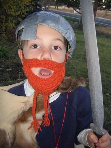 The crocheted viking beard