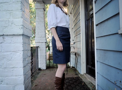 Shop Update: Pintuck Pleated Denim Skirt