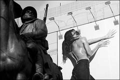Torino 0178 (malko59) Tags: street urban blackandwhite poster torino monumento turin statua biancoenero bwemotions malko59 marcopetrino
