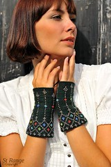 Beaded cuffs by Danielle Kassner by KAL Media