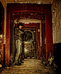 Urbex Security! (Batram) Tags: door school urban selfportrait man bar lost hostel place infiltration cheers exploration asylum cellar hdr engineers urbex kellerbar trsteher batram asyl asylantenheim technikerschule fliegerschule